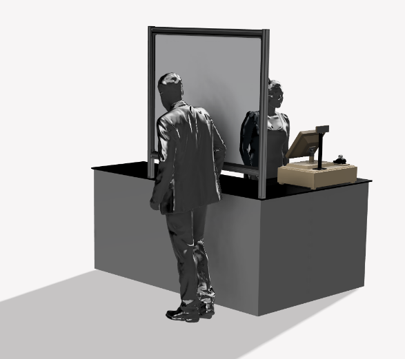 Robotunits_Customer_Service_distancing_barriers